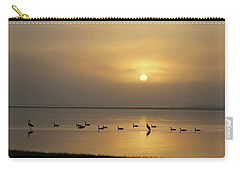 Birds On A Hazy Day Carry-all Pouch