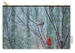 Birds On A Snowy Day Carry-all Pouch