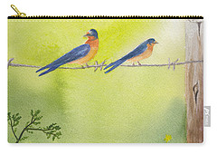 Birds On A Wire Barn Swallows Carry-all Pouch