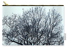 Birds On The Tree Monochrome Carry-all Pouch