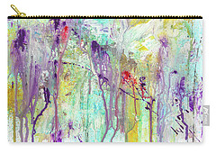 Birds On The Wire - Colorful Bright Modern Abstract Art Painting Carry-all Pouch