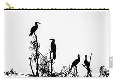 Birds Perched On Branches Carry-all Pouch