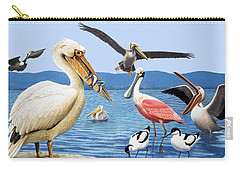 Birds With Strange Beaks Carry-all Pouch by R B Davis
