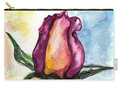 Carry-all Pouch featuring the painting Birth Of A Life by Harsh Malik