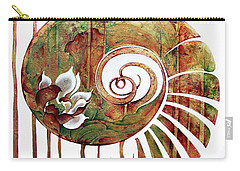 Birth Of Lotus Land Carry-all Pouch by Anna Ewa Miarczynska