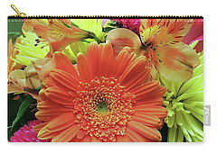 Carry-all Pouch featuring the digital art Birthday Daisy Bouquet by Ellen O'Reilly