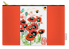 Birthday Field Of Flowers  Carry-all Pouch