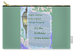 Carry-all Pouch featuring the painting Birthday Of The King by Sandy McIntire