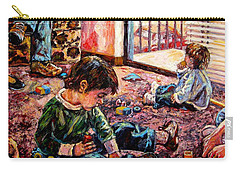 Carry-all Pouch featuring the painting Birthday Party Or A Childs View by Kendall Kessler