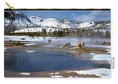 Biscuit Basin Elk Herd Carry-all Pouch by Ed  Riche