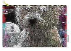 Carry-all Pouch featuring the photograph Bishon Frise by EricaMaxine  Price
