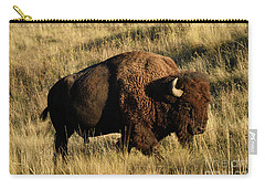 Bison  Carry-all Pouch by Cindy Murphy - NightVisions