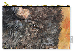 Carry-all Pouch featuring the painting Bison by David Stribbling