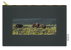 Bison In Autumn Light Carry-all Pouch by Yeates Photography