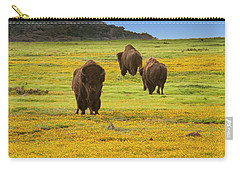 Bison In Wildflowers Carry-all Pouch