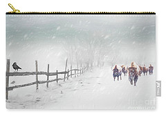 Bison In Winter Carry-all Pouch