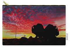 Carry-all Pouch featuring the photograph Bison Sunset by Larry Trupp