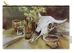 Bison With Bowls Carry-all Pouch