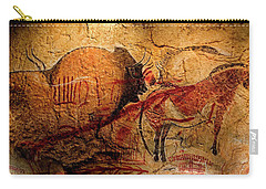 Bisons Horses And Other Animals Closer Carry-all Pouch