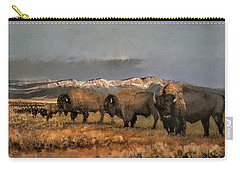 Bisons Of The Front Range Carry-all Pouch