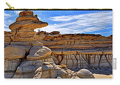 Carry-all Pouch featuring the photograph Bisti Badlands Formations - New Mexico - Landscape by Jason Politte