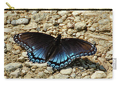 Black And Blue Monarch Butterfly Carry-all Pouch
