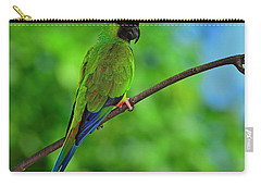 Carry-all Pouch featuring the photograph Black And Blue by Tony Beck