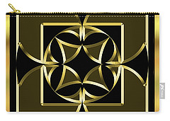 Black And Gold 13 - Chuck Staley Carry-all Pouch by Chuck Staley
