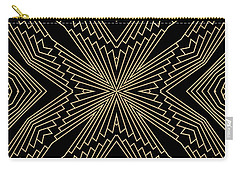 Black And Gold Art Deco Filigree 003 Carry-all Pouch