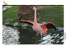 Black And Pink Carry-all Pouch by Shoal Hollingsworth
