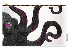 Black And Purple Octopus Carry-all Pouch