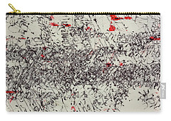 Carry-all Pouch featuring the painting Black And Red 2 by Nancy Merkle