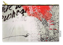 Carry-all Pouch featuring the painting Black And Red 4 by Nancy Merkle