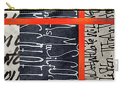 Carry-all Pouch featuring the painting Black And Red 7 by Nancy Merkle