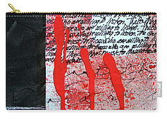 Carry-all Pouch featuring the painting Black And Red 8 by Nancy Merkle