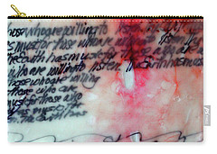 Carry-all Pouch featuring the painting Black And Red Encaustic 1 by Nancy Merkle