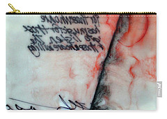 Carry-all Pouch featuring the painting Black And Red Encaustic 2 by Nancy Merkle