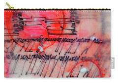 Carry-all Pouch featuring the painting Black And Red Encaustic 3 by Nancy Merkle