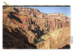 Black And Silver Bridges Spanning The Colorado River  Grand Canyon National Park Carry-all Pouch