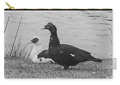Black And White 10 Carry-all Pouch