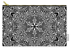 Black And  White 28 Carry-all Pouch by Robert Thalmeier