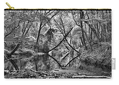 Black And White 40 Carry-all Pouch