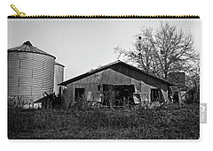 Black And White Abandoned Barn Carry-all Pouch
