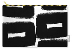 Black And White Abstract- Abstract Painting Carry-all Pouch