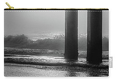 Carry-all Pouch featuring the photograph Black And White Bird Beach by John McGraw