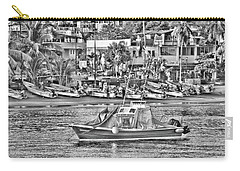 Black And White Boat Carry-all Pouch by Jim Walls PhotoArtist