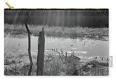 Black And White Bog Carry-all Pouch