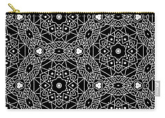 Black And White Boho Pattern 3- Art By Linda Woods Carry-all Pouch