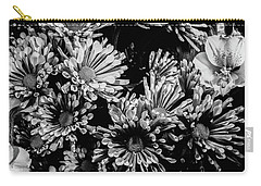 Black And White Bouquet Carry-all Pouch