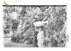 Black And White Bread Lady Carry-all Pouch by Jim Walls PhotoArtist